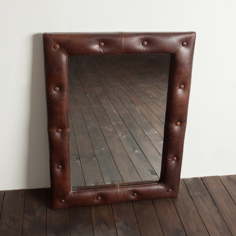 Leather-Mirror-Small_Biker-Tan-Buttoned-2-h